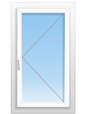 Окна_НН - Каталог товаров - Одностворчатое окно с поворотной створкой